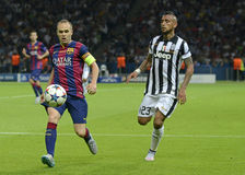 Andres Iniesta and Arturo Vidal Stock Image