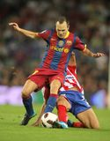 Andres Iniesta of Barcelona Stock Images