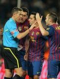 Andres Iniesta de FC Barcelone Photo libre de droits