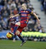 Andres Iniesta de FC Barcelone image stock