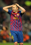 Andres Iniesta of FC Barcelona Stock Images