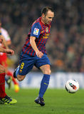 Andres Iniesta of FC Barcelona Royalty Free Stock Photos
