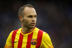 Andres Iniesta of FC Barcelona Royalty Free Stock Photo