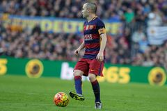 Andres Iniesta of FC Barcelona Royalty Free Stock Photography