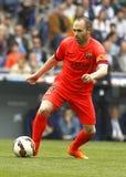 Andres Iniesta van FC Barcelona Stock Foto's