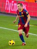 Andres Iniesta von FC Barcelona Stockbild
