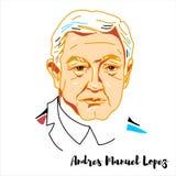 Andres Manuel Lopez portret ilustracja wektor