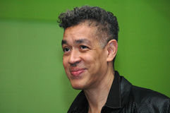 Andres Serrano. OCTOBER 7, 2005 - BERLIN: Andres Serrano at the opening of an exhibition in the c/o Berlin stock photos