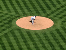 Andrew Bailey throws a pitch Royalty Free Stock Image
