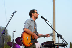 Andrew Bird (musician, songwriter, and multi-instrumentalist) performs at Vida Festival Royalty Free Stock Photography