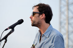 Andrew Bird musician, songwriter, and multi-instrumentalist performs at Vida Festival Royalty Free Stock Image