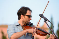 Andrew Bird musician, songwriter, and multi-instrumentalist performs at Vida Festival Royalty Free Stock Photos
