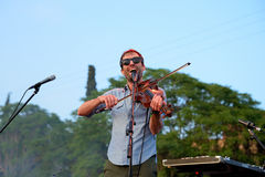 Andrew Bird musician, songwriter, and multi-instrumentalist performs at Vida Festival Stock Photos