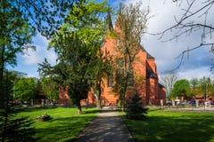 Andrew Bobola Church in Swiecie polen stockbild