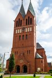 Andrew Bobola Church in Swiecie polen stockfotografie
