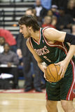 Andrew Bogut of the Milwaukee Bucks Stock Photo