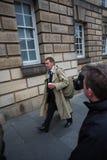Andrew Coulson legalna drużyna przyjeżdża przy Szkocja sądem najwyższy fotografia stock