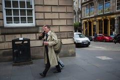 Andrew Coulson llega la tribunal superior de Escocia imagenes de archivo