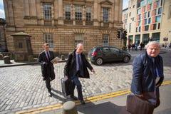 Andrew Coulson llega la tribunal superior de Escocia foto de archivo