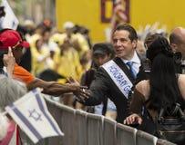 Andrew Cuomo przy 2015 Nowy Jork Świętuje Izrael paradę Zdjęcia Stock