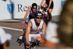 Andrew Duffe in the Coeur d' Alene Ironman cycling event Royalty Free Stock Image