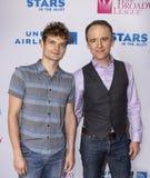 Andrew Durand und David Wilson Barnes bei 2019 Sternen in der Gasse lizenzfreie stockfotografie