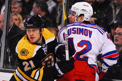 Andrew Ference and Artem Anisimov Stock Image