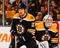 Andrew Ference and Tim Thomas Stock Image