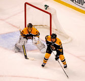 Andrew Ference and Tuukka Rask Boston Bruins NHL Royalty Free Stock Images