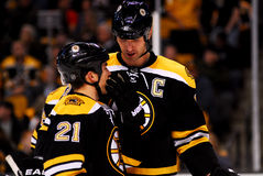 Andrew Ference and Zdeno Chara Royalty Free Stock Image
