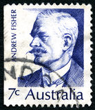 Andrew Fisher Australian Postage Stamp fotos de stock royalty free