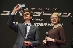 Andrew Garfield and Emma Stone Royalty Free Stock Photos