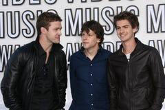 Andrew Garfield,Jesse Eisenberg,Justin Timberlake Royalty Free Stock Image