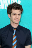 Andrew Garfield que chega nas concessões 2012 do filme de MTV Fotografia de Stock Royalty Free