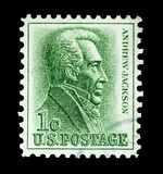 Andrew Jackson. Mail stamp printed in the United States featuring former U.S President Andrew Jackson, circa 1963 Royalty Free Stock Image