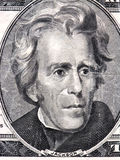 Andrew Jackson. Macro of a twenty dollar bill Stock Photos