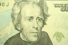 Andrew jackson. On the twenty dollar bill Stock Image