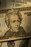 Andrew Jackson en la cuenta $20 Foto de archivo libre de regalías