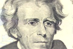 Andrew Jackson-Porträt von uns 20 Dollar Stockfotografie