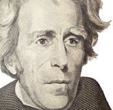 Andrew Jackson Portrait. Very detailed Andrew Jackson Closeup Stock Photography
