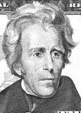 Andrew Jackson-portret van ons 20 dollars stock afbeeldingen