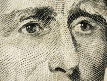 Andrew Jackson President closeup on dollar banknote. Andrew Jackson President closeup on dollar american banknote royalty free stock photo