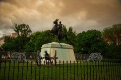 Andrew Jackson Statue in het Vierkant van Lafayette in Washington DC stock foto's