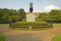 Andrew Jackson Statue & Jackson Square in New Orleans, Louisiane stock afbeelding
