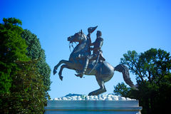 Andrew Jackson Statue Lafayette Square stock images