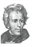 Andrew Jackson (vector) Stock Photos