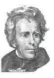 Andrew Jackson (vector). Gravure of Andrew Jackson (vector) in front of the twenty dollar banknote Stock Photos