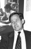 Andrew Knight. Executive Chairman of media group News International, at a press conference in London on May 14, 1990 Stock Photos