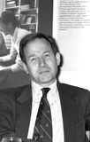 Andrew Knight. Executive Chairman of media group News International, at a press conference in London on May 14, 1990 Royalty Free Stock Photo