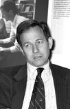 Andrew Knight. Executive Chairman of media group News International, at a press conference in London on May 14, 1990 Stock Image